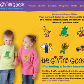 The Giving Goose: roba per a nens dissenyada per nens i solidària
