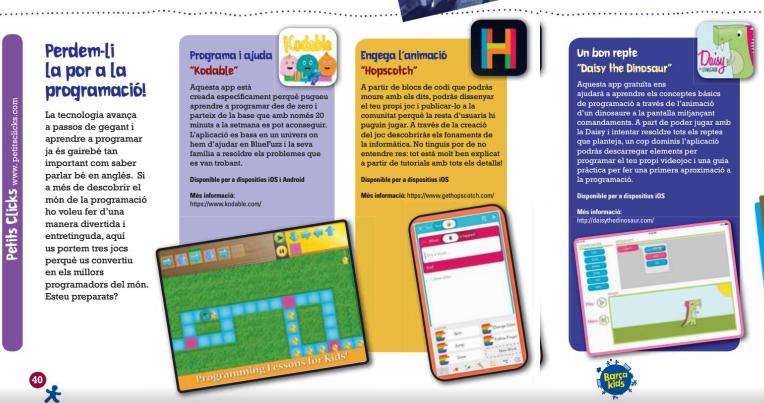 Petits Clicks Barça Kids Perd la por a la Programació