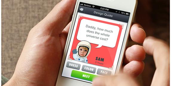 KidQuoter: captura i comparteix les frases divertides dels teus fills
