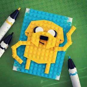 """Brick Sketches: """"dibuixant"""" amb LEGO"""