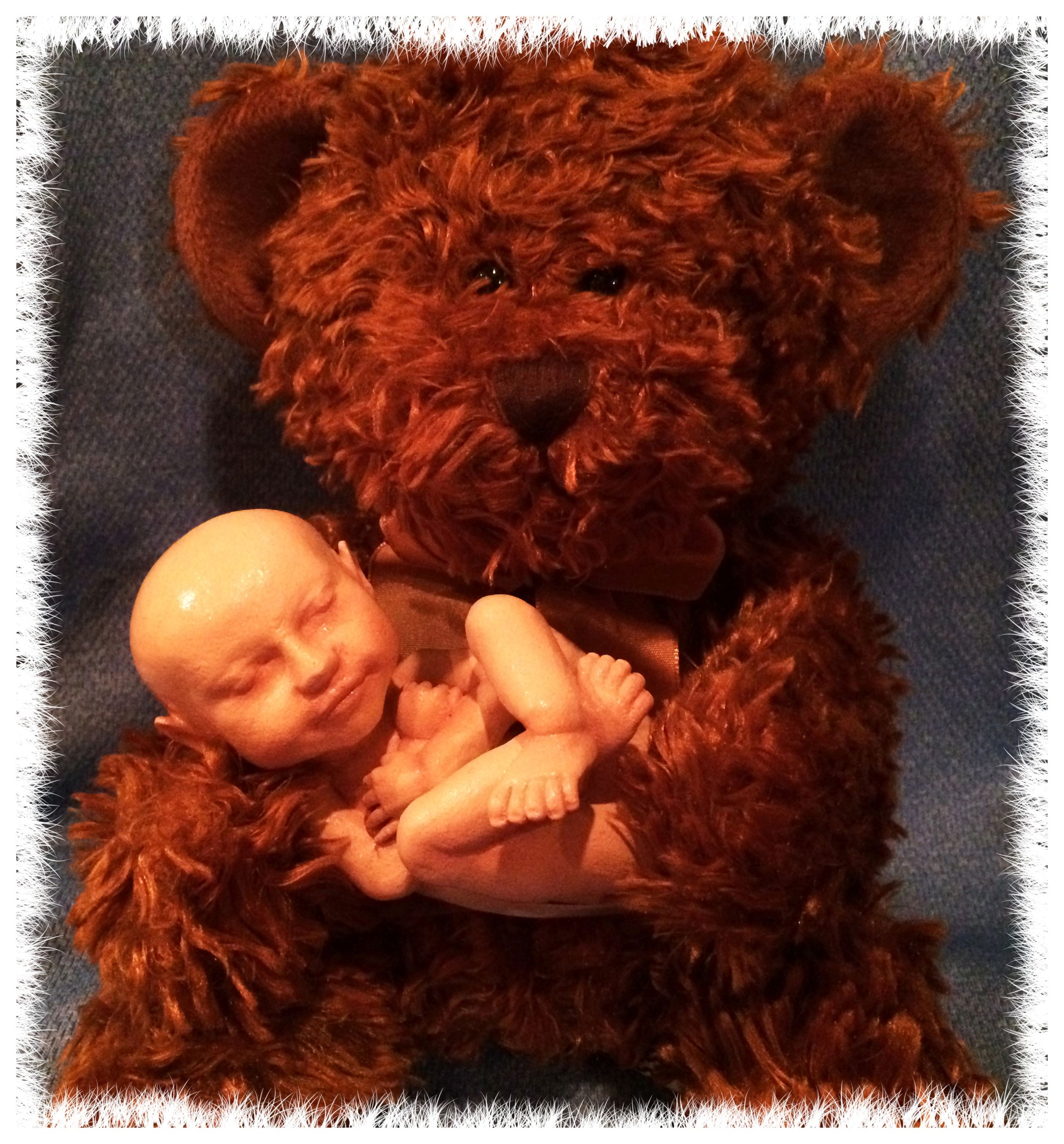 3D Babies with bear close up edited