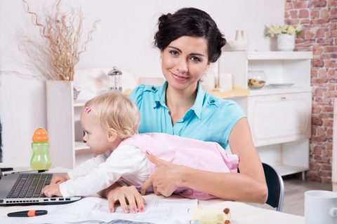 http://www.dreamstime.com/stock-photo-business-woman-laptop-her-baby-girl-young-women-image35129180